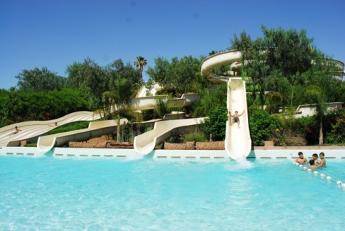 slides at Oasiria water park Marrakech