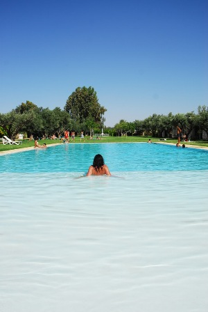 The open all year Pool at Oasiria waterpark Marrakech